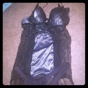 Other - Black and silver lingerie with matching thing